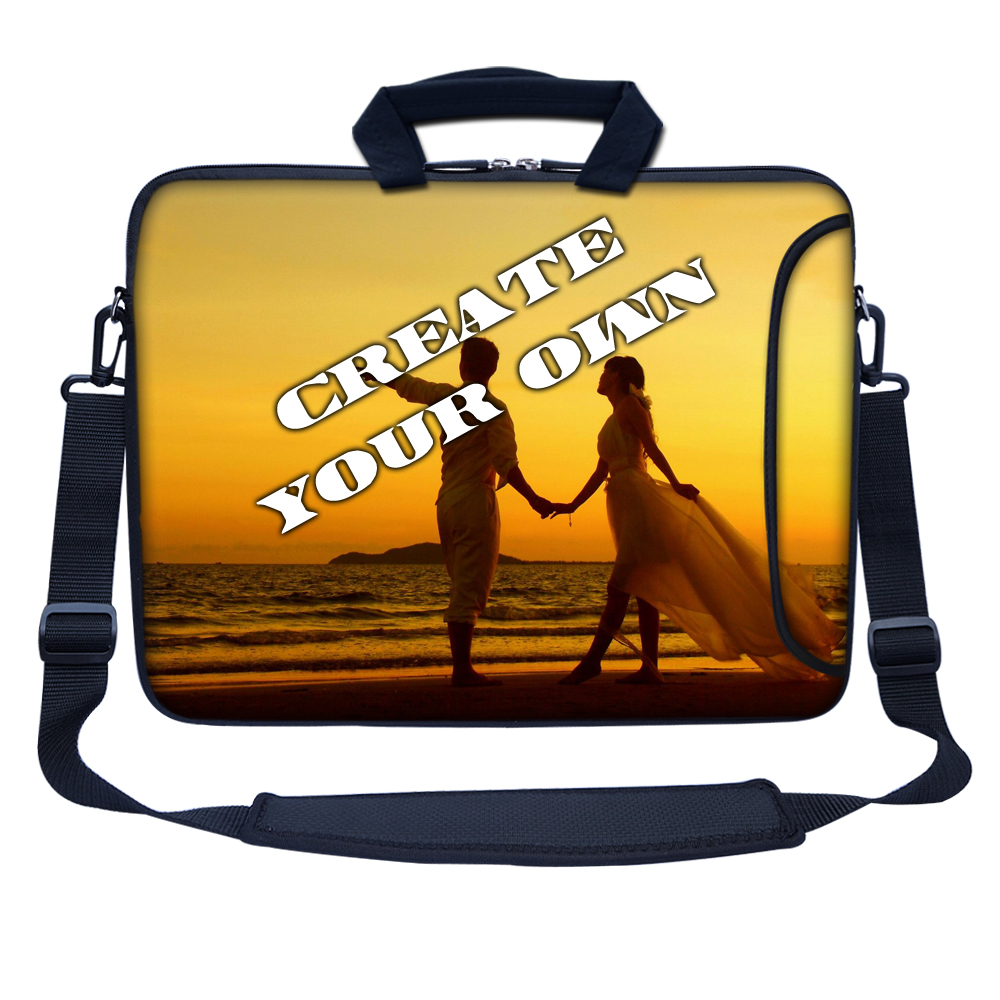 Personalized Design Laptop Computer Sleeve Bag with Shoulder Strap Customized