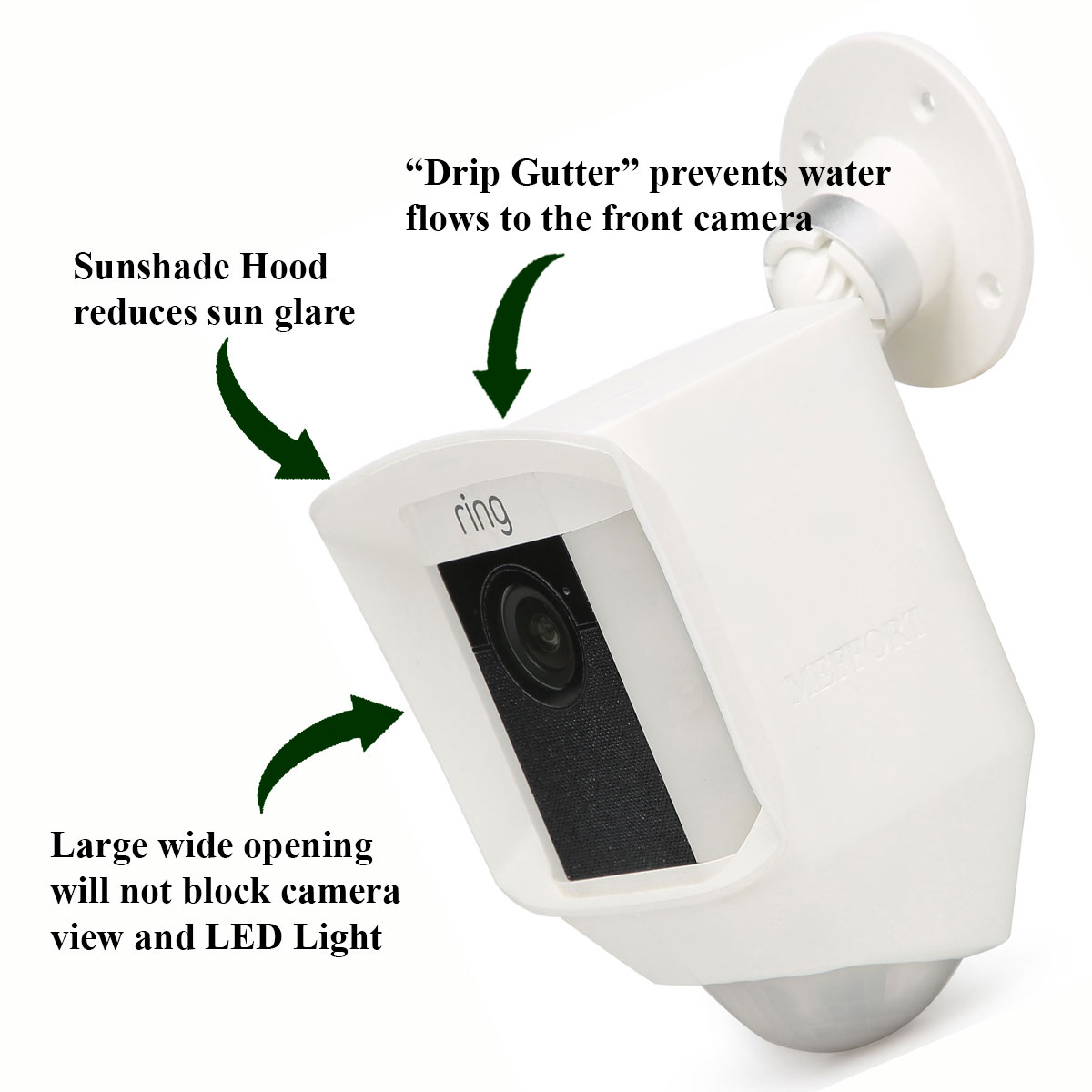 Silicone Skin Case Cover For Ring Spotlight Security