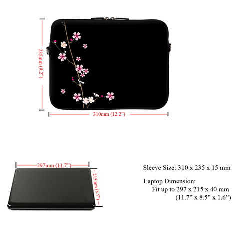 """Soft Neoprene Laptop Bag Case with Hidden Handle to Fit Chromebook 11.6/"""" 1810"""