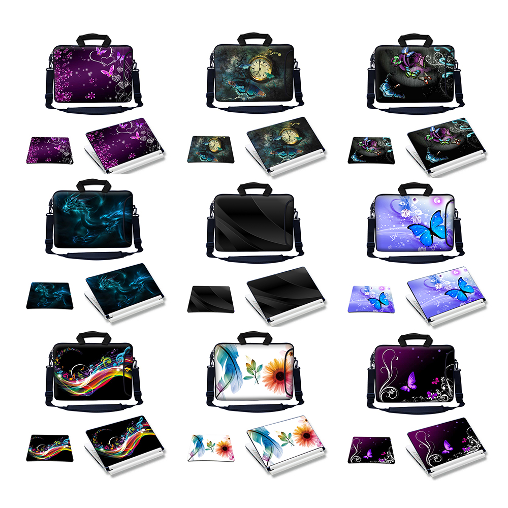 "17/"" 17.3/"" Laptop Sleeve Bag Case w Shoulder Strap /& Matching Skin Mouse Pad 2701"